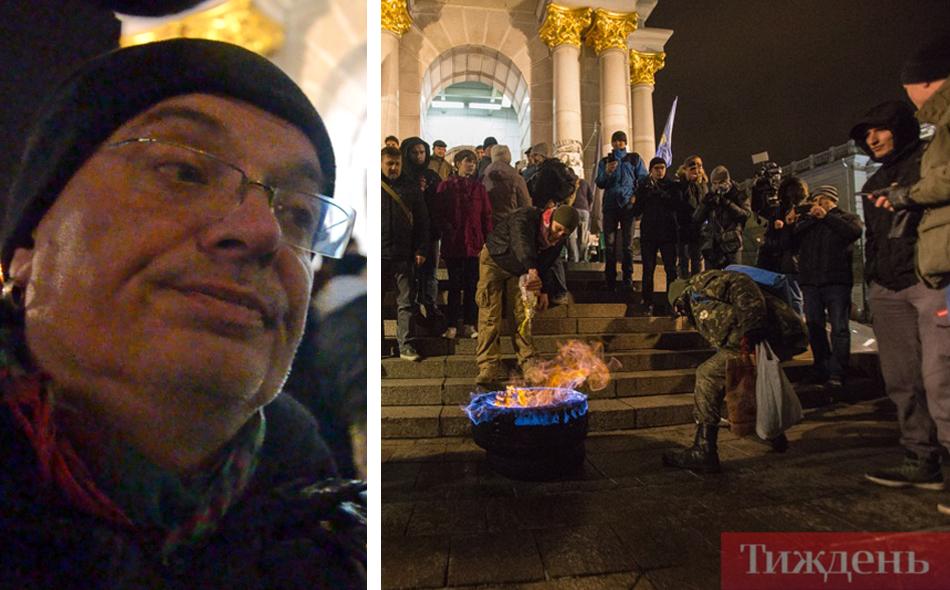 """Медіаексперт Олексій Ковжун про шини у вогні на Майдані: """"Це непристойно"""""""