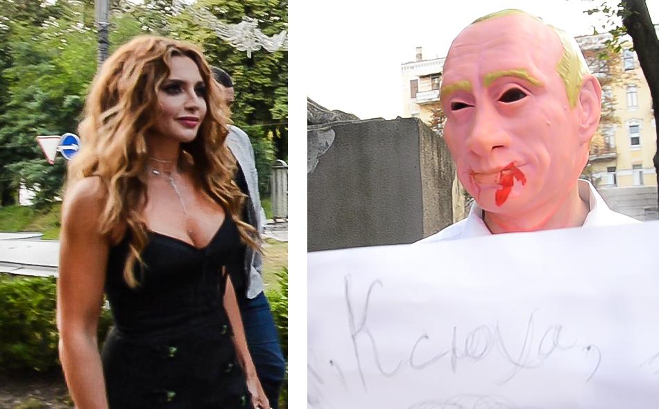 «Ганьба!» від активістів, «Танцюй!» від «тітушек». Як Оксану Марченко під музеєм зустрічали
